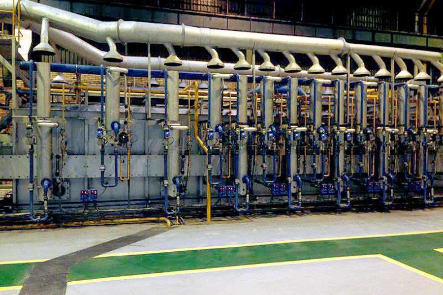 Traslado y modernización de horno de tratamiento de tubos